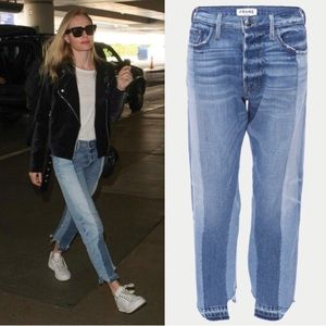 NWT Frame Nouveau Le mix Raw Hem Jeans  Size:26